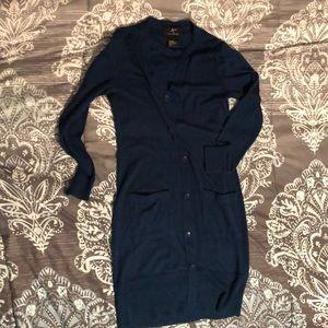 Lennie for Nina Leonard sweater dress- dark teal